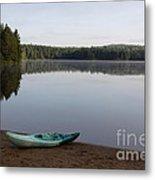 Kayak On Pog Lake Metal Print by Chris Hill