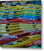 Kayak Row Metal Print