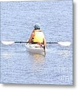 Kayaker Resting On The Water Metal Print