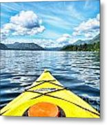 Kayaking In Bc Metal Print