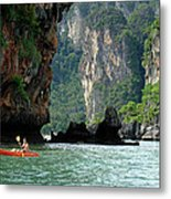 Kayaking In Thailand Metal Print