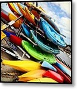 Kayaks For Rent In Rockport Metal Print by Matthew Green