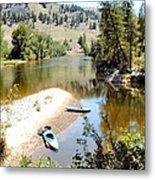 Kayaks On The Kettle Metal Print