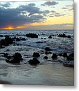 Keaweakapu Beach Sunset Metal Print
