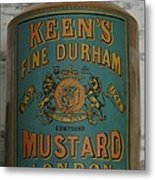 Keen's Mustard Metal Print