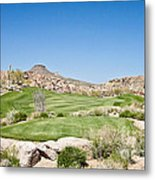 Keep It In The Short Grass Metal Print
