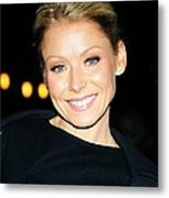 Kelly Ripa At Talk Show Appearance Metal Print