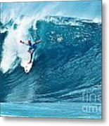 Kelly Slater At Pipeline Masters Contest Metal Print