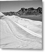Kelso Sand Dunes Bw Metal Print
