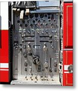 Kensington Fire District Fire Engine Control Panel . 7d15856 Metal Print by Wingsdomain Art and Photography