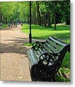 Kensington Park Bench Metal Print