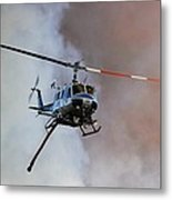 Kern County Fire Copter #408 Metal Print