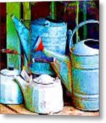 Kettles And Cans To Water The Garden Metal Print