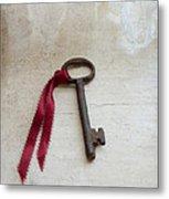 Key On Windowsill Metal Print