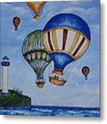 Kid's Art- Balloon Ride Metal Print
