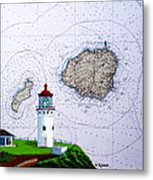 Kilauea Point Lighthouse On Noaa Chart Metal Print