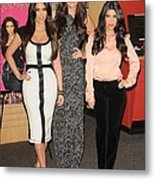 Kim Kardashian, Khloe Kardashian Metal Print by Everett