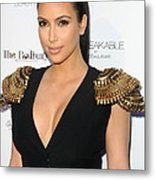 Kim Kardashian Wearing An Alexander Metal Print by Everett