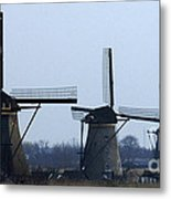 Kinderdijk Windmills 2 Metal Print