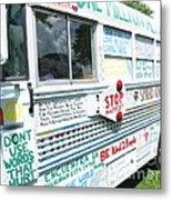 Kindness Bus 8 Metal Print
