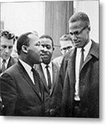 King And Malcolm X, 1964 Metal Print