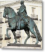 King Charles IIi Statue In Madrid Metal Print