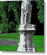 King Edward Vii Statue - Lichfield Metal Print