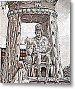 King Of Rex - Painted Bw Metal Print