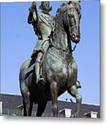 King Philip IIi Statue In Madrid Metal Print