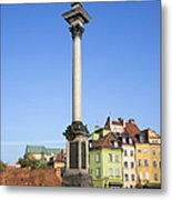 King Sigismund Column In Warsaw Metal Print