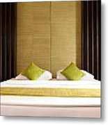 King Size Bed Metal Print
