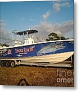 Kingfish Boat Wrap Metal Print