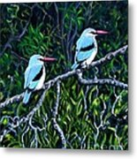 Woodland Kingfisher Metal Print