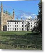 Kings College Chapel And The Gibbs Building Metal Print