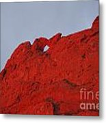 Kissing Camels On Fire Metal Print