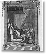 Kissing The Popes Feet Metal Print