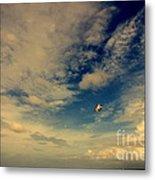 Kite At Folly Beach Near Charleston Sc Metal Print