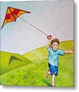 Kite Flying Fun Metal Print
