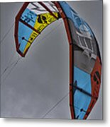 Kite Surfing Metal Print by Douglas Barnard