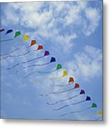 Kites Fly In A Rainbow Of Colors Metal Print