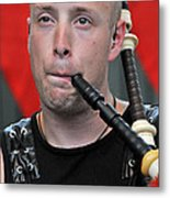 Knight Of The Pipes Metal Print
