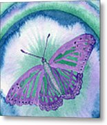 Knowingness Butterfly Metal Print