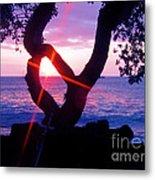 Kona Sunset Hawaii Metal Print