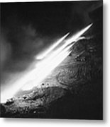 Korean War: Rocket Launch Metal Print