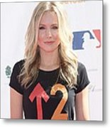 Kristen Bell In Attendance For Stand Up Metal Print by Everett