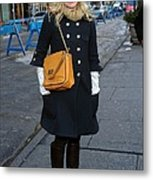 Kristen Bell Out And About For Sun Metal Print