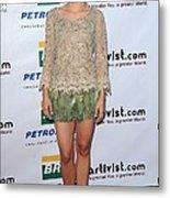 Kristen Bell Wearing An Alberta Metal Print