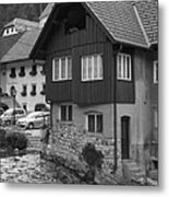 Kropa In Black And White Metal Print