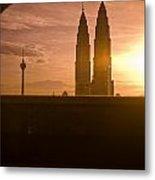 Kuala Lumpura Capital City Twin Towers Metal Print