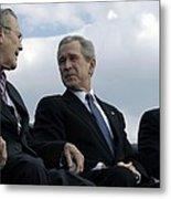 L To R Sec. Of Defense Donald Rumsfeld Metal Print